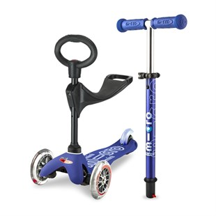 Micro Mini Scooter 3 in 1 Deluxe Blue